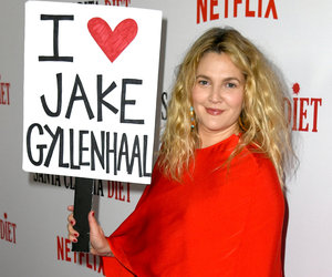Barrymore Waves 'I Heart Jake Gyllenhaal' Sign After Calling Him 'Least Talented Co-Star'