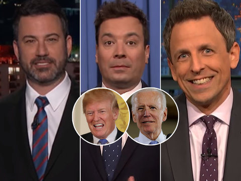Late-Night Stars Imagine Joe Biden Fighting Donald Trump