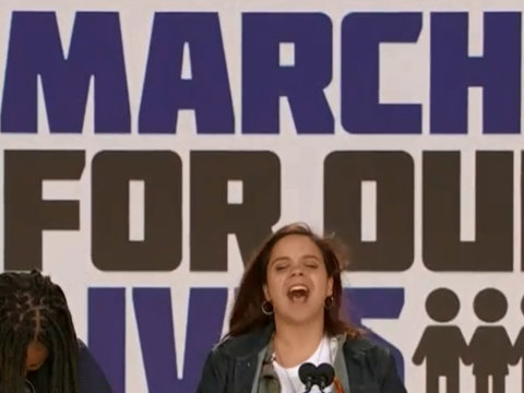 March For Our Lives Starts to Cry as Crowd Sings 'Happy Birthday'