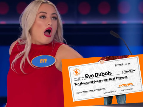 Woman Scores $10k Worth of Popeyes Chicken After Epic Family Feud Fail Goes Viral, Wustoo