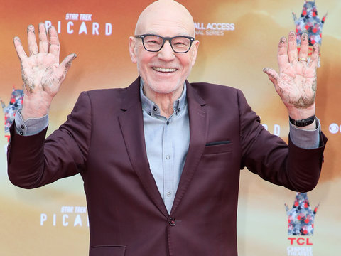 Sir Patrick Stewart Honored with Chinese Theatre Hand and Footprint Ceremony, Wustoo