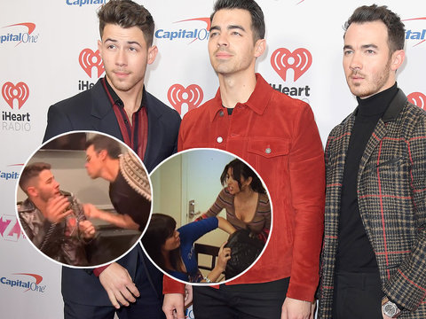 Jonas Brothers Spot-On Lip Sync Parody of Epic Kardashian Purse Fight Is Why the Internet Exists, Wustoo